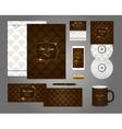 Classic corporate identity template design vector image