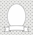 Hand drawn photo frame on polka dots background vector image vector image
