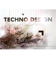 Abstract Techno Background vector image