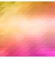 Abstract mosaic background of colored triangles in vector image