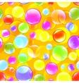 Bubbles color background vector image