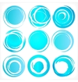 Design elements in blue colors icons Set 3 vector image