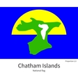 National flag of Chatham Islands with correct vector image