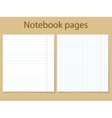 Notebook pages template vector image