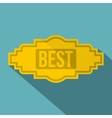Best label icon flat style vector image vector image
