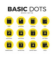book flat icons set vector image