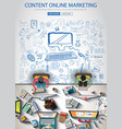 content online marketing brochure template with vector image