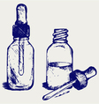 Open medicine bottle with a dropper vector image vector image