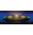 Big cruise ship vector image
