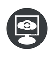 Round cloud exchange monitor icon vector image