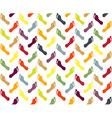 Seamless footprint pattern vector image
