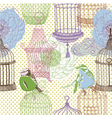 bird collage background vector image vector image