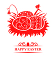 nest eggs card vector image