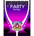 80s Party Poster Art Background vector image