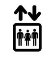 Lift or elevator symbol on white background vector image