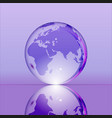 purple shining transparent earth globe vector image