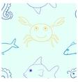 Sea life seamless vector image
