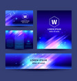 set of abstract background templates vector image