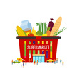 Supermarket Shopping basket Elements and icons for vector image