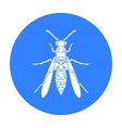Wasp icon in black style isolated on white vector image