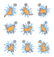 Cat dreams set print for kids vector image