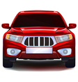 Red crossover car vector image vector image