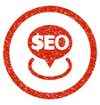 geotargeting seo rounded grainy icon vector image