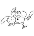 Roman warrior cartoon vector image