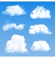 Blue cloud geometric background vector image