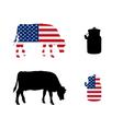 American milk cow vector image