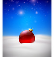 Christmas background with Red Christmas tree ball vector image vector image