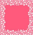 valentine frame pink vector image vector image