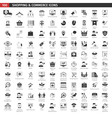 Black Commerce Icons Set vector image