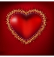 abstract heart with ekg eps 8 vector image