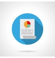 Analytical article round flat color icon vector image