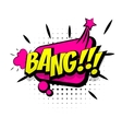 Comic pink sound effects pop art word bang vector image