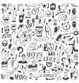 Politics - doodles set vector image