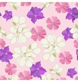 Seamless garden flowers background vector image