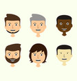 set of mens faces expressing positive emotions vector image