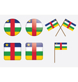 badges with flag of the CAR vector image vector image