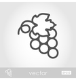 Bunch of grapes outline icon Thanksgiving vector image
