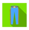 Cowboy jeans icon in flat style isolated on white vector image