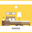 modern badroom interior design icon vector image
