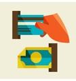 receipt of money vector image