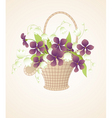 bouquet of violets vector image vector image