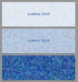 Blue tiled rectangle pattern banner design set vector image