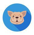 cute dog muzzle cartoon flat icon vector image