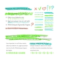 highlighter elements with text layout vector image