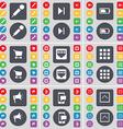 Microphone Media skip Battery Shopping cart LAN vector image