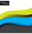 modern background with waves vector image